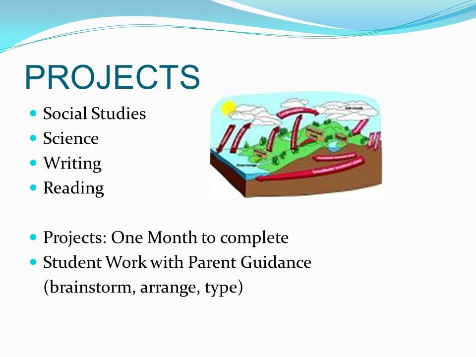 PROJECTS Social Studies Science Writing Reading