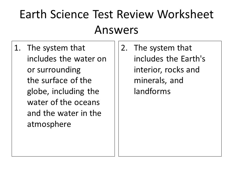 Earth Science Test Review Worksheet ANSWERS 30 points ppt – Earth Science Worksheet