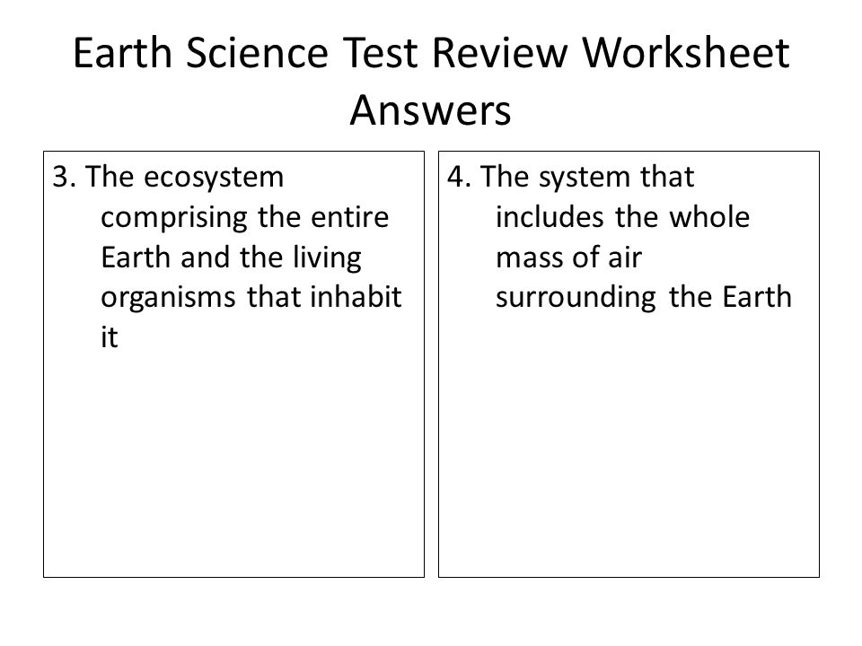 earth and air relationship test