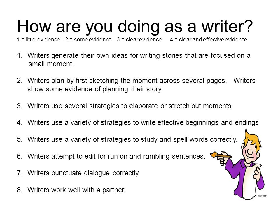 How are you doing as a writer