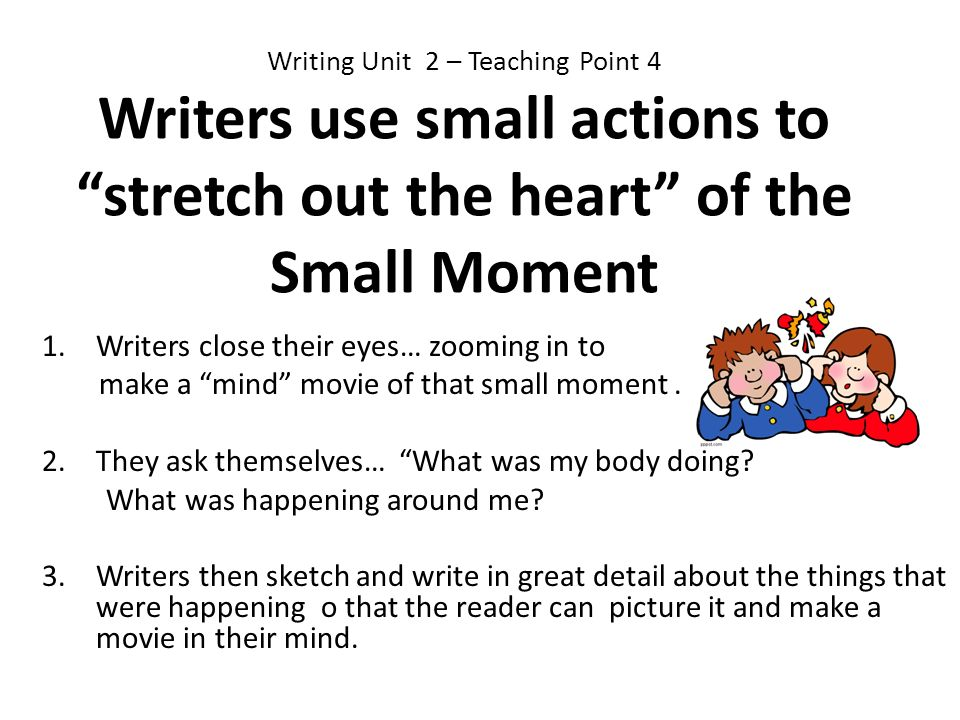 Writers close their eyes… zooming in to