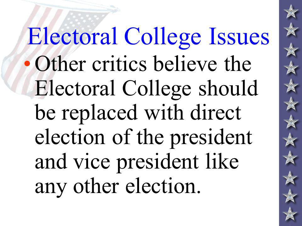 Electoral College Issues