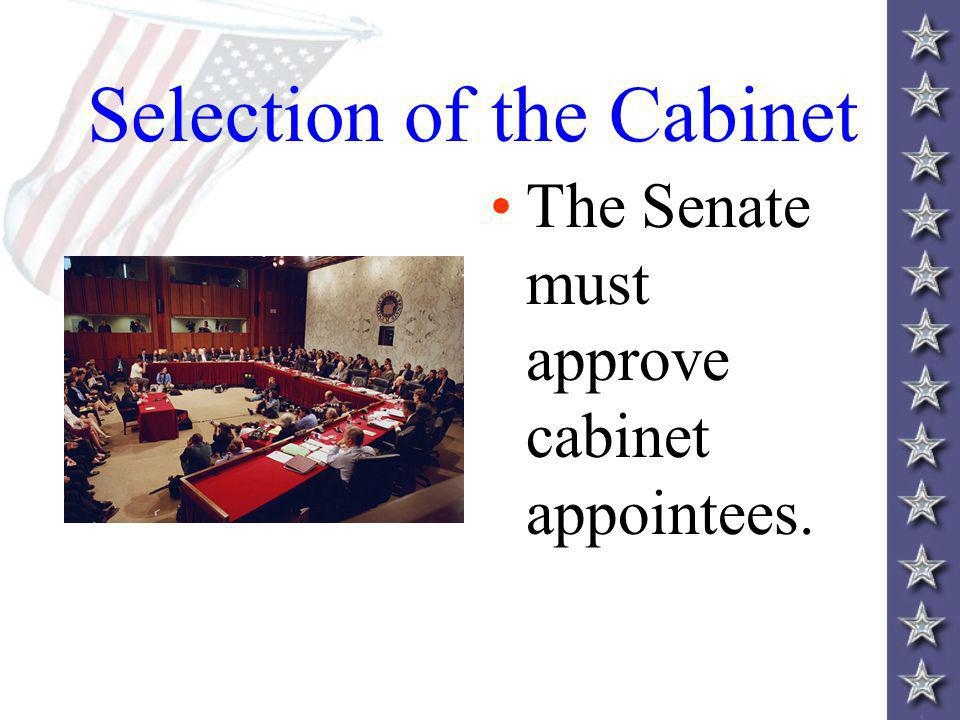Selection of the Cabinet