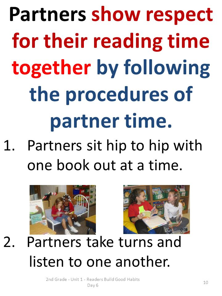 for their reading time together by following