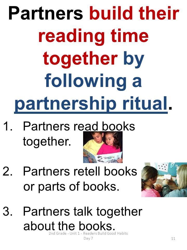 2nd Grade - Unit 1 - Readers Build Good Habits