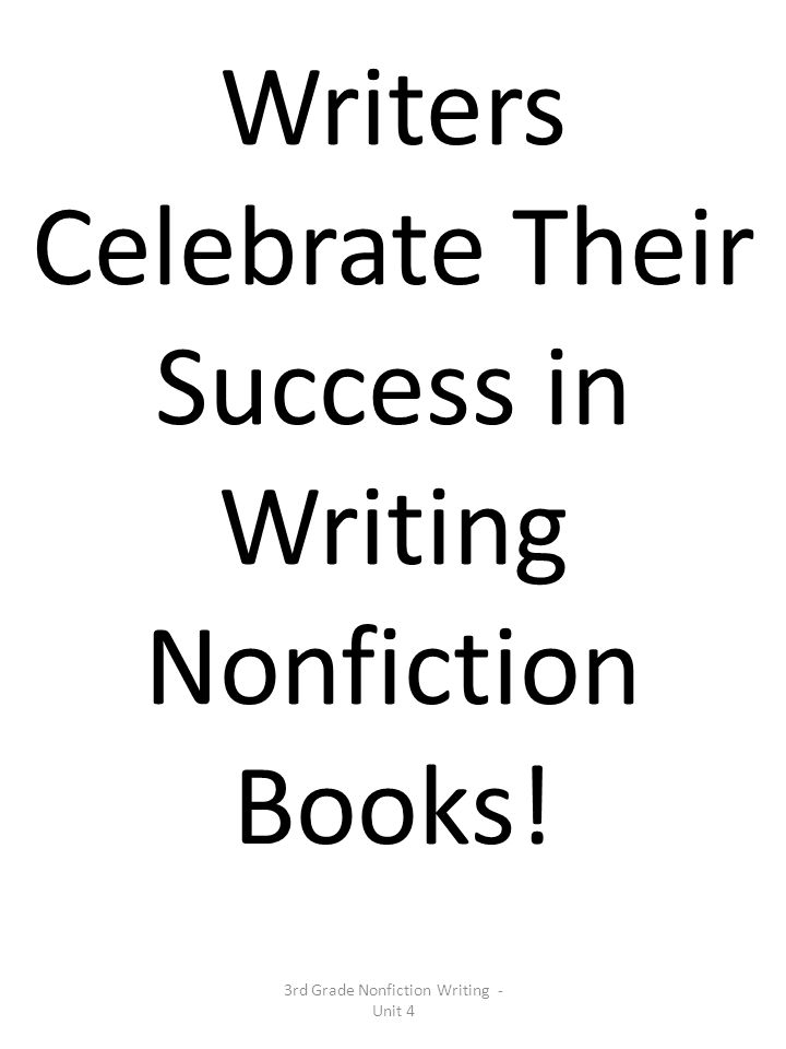 Writers Celebrate Their Success in Writing Nonfiction Books!