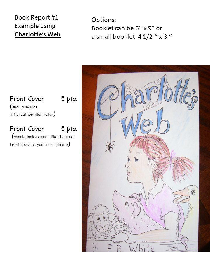 Example using Charlotte's Web Options: Booklet can be 6 x 9 or