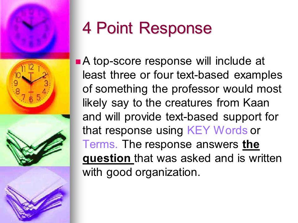 4 Point Response