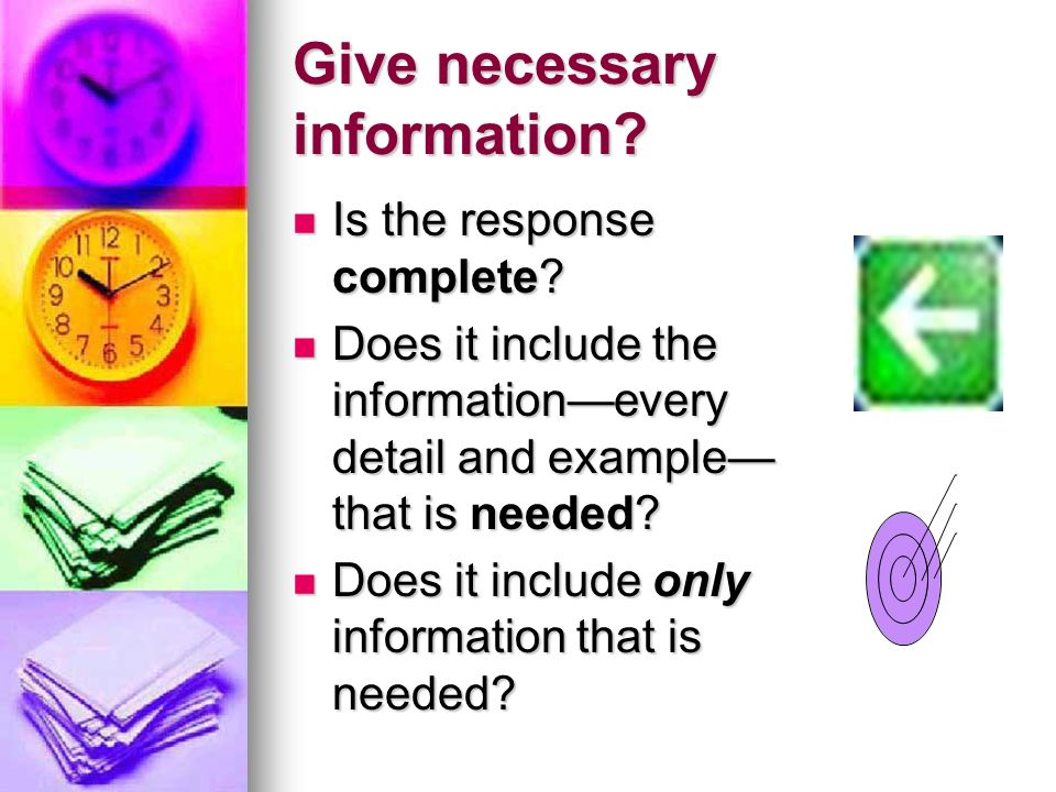 Give necessary information