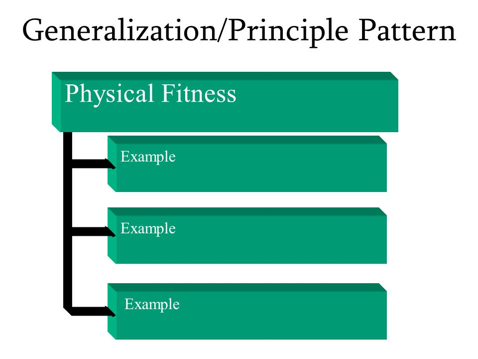 Generalization/Principle Pattern