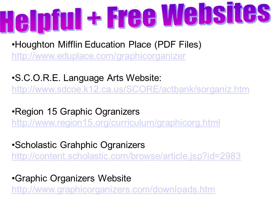 Helpful + Free Websites