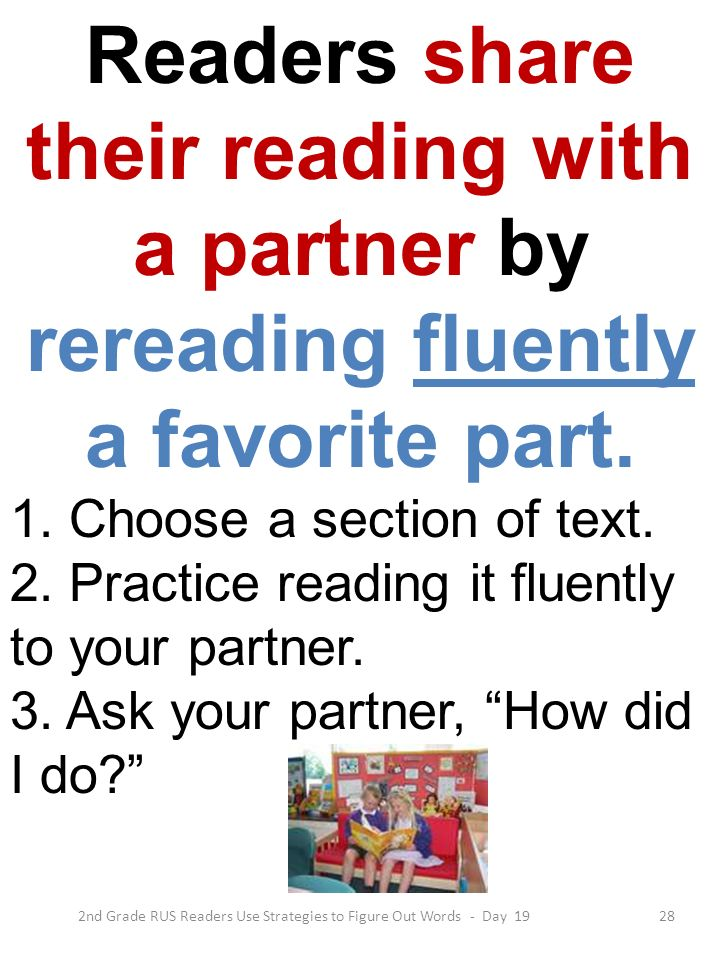 2nd Grade RUS Readers Use Strategies to Figure Out Words - Day 19