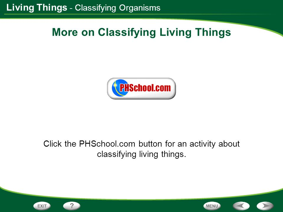 More on Classifying Living Things