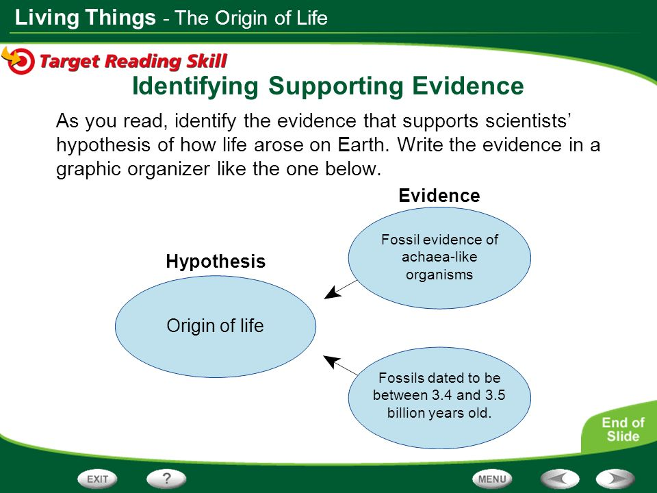 Identifying Supporting Evidence