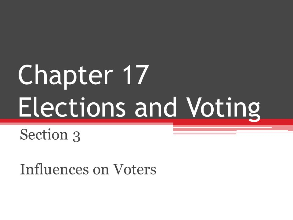 Chapter 17 Elections and Voting