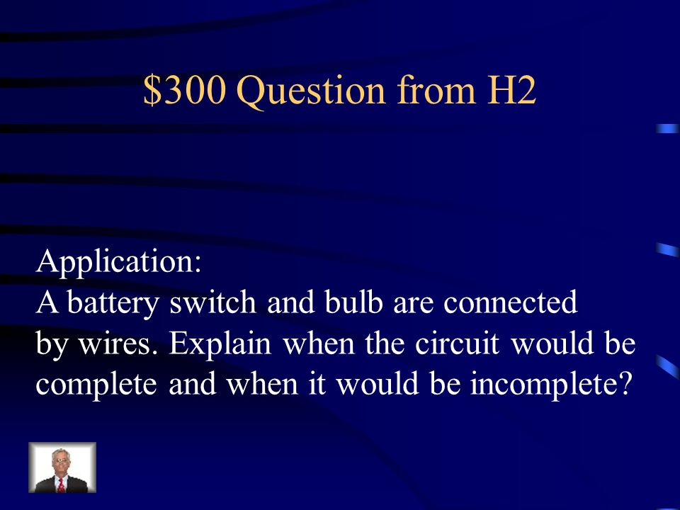 $300 Question from H2 Application: