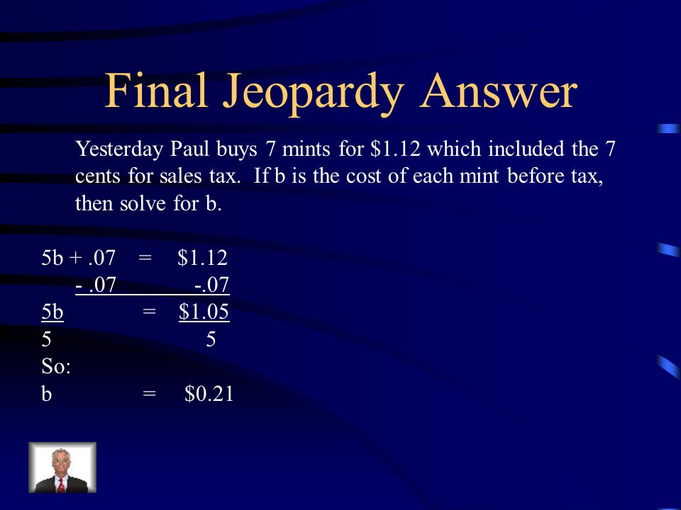 Final Jeopardy Answer
