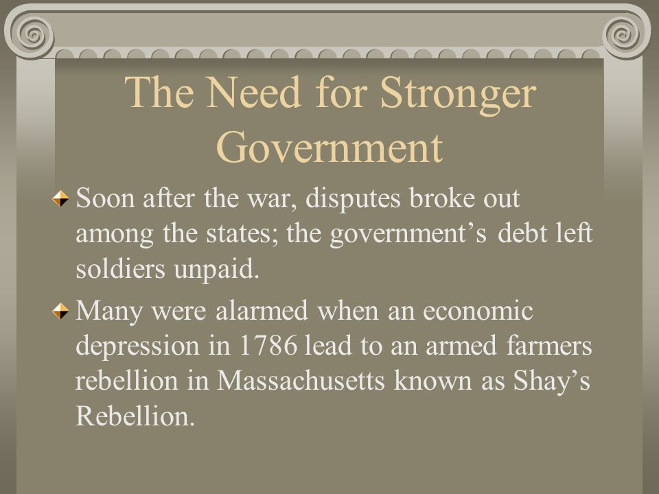 The Need for Stronger Government