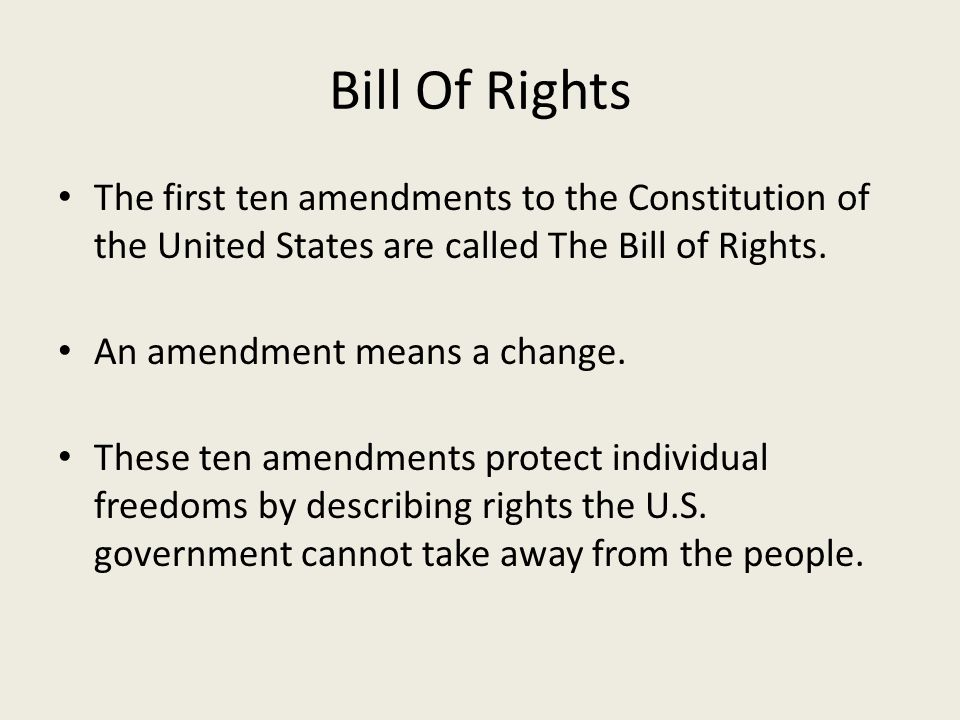 an introduction to the bill of rights in the constitution of the united states Why the bill of rights was added to the constitution at the constitutional convention of 1787, delegates rejected a motion made by george mason, author of the virginia declaration of rights.
