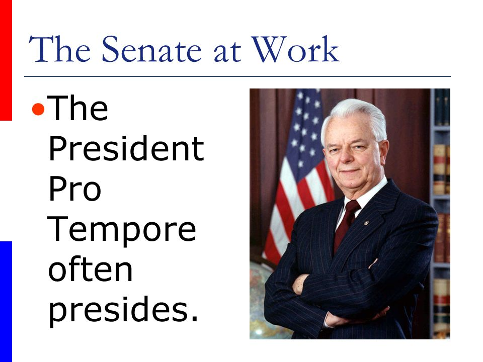 Chapter 5 The Organization of Congress - ppt video online ... President Pro Tempore Seal