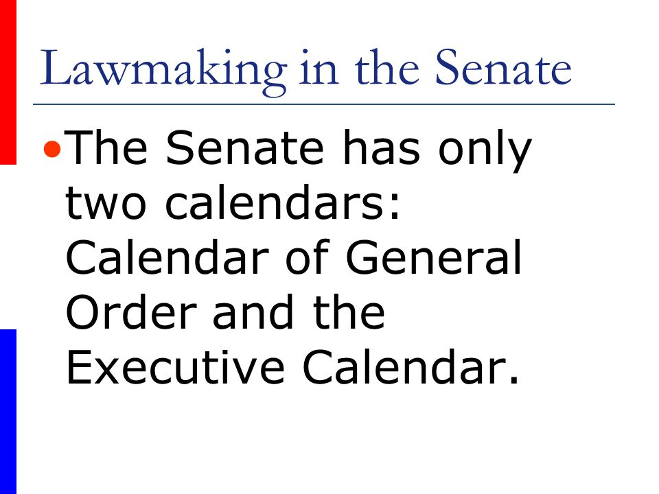Lawmaking in the Senate