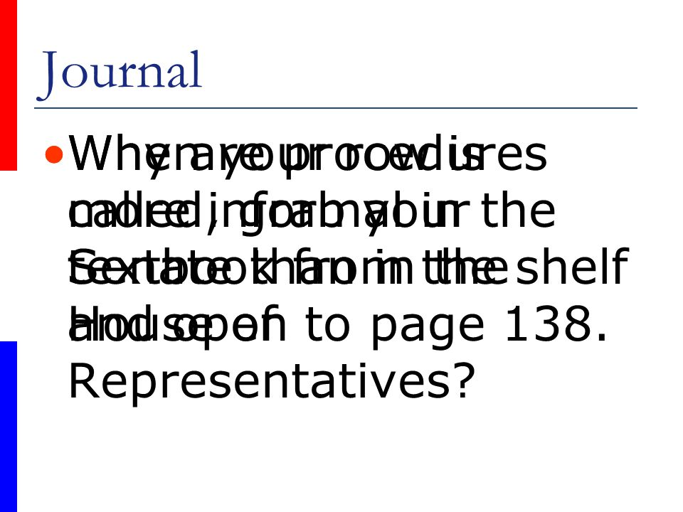 Journal Why are procedures more informal in the Senate than in the House of Representatives