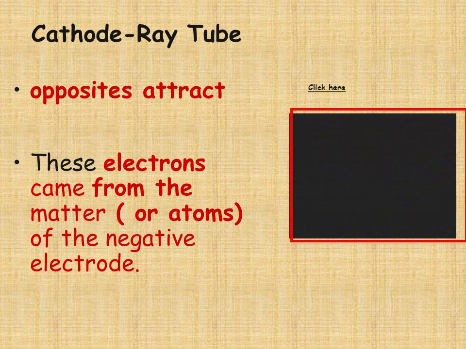 Cathode-Ray Tube opposites attract