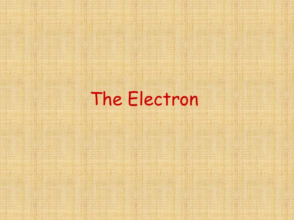 The Electron