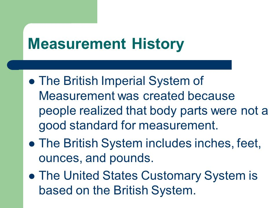 Measurement History