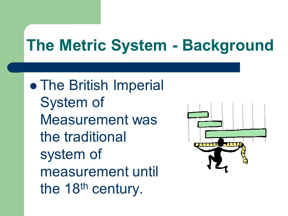 The Metric System - Background