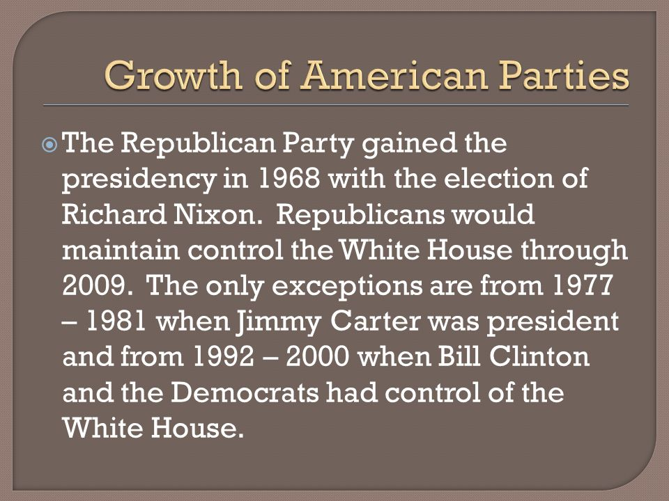 Growth of American Parties