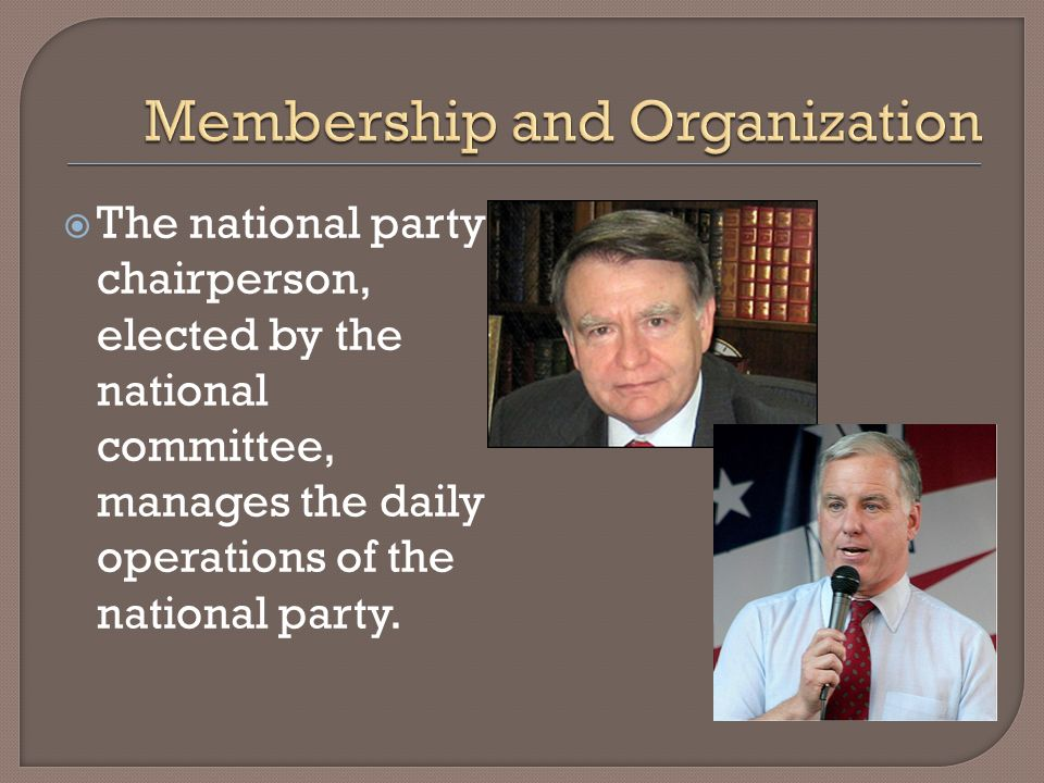 Membership and Organization