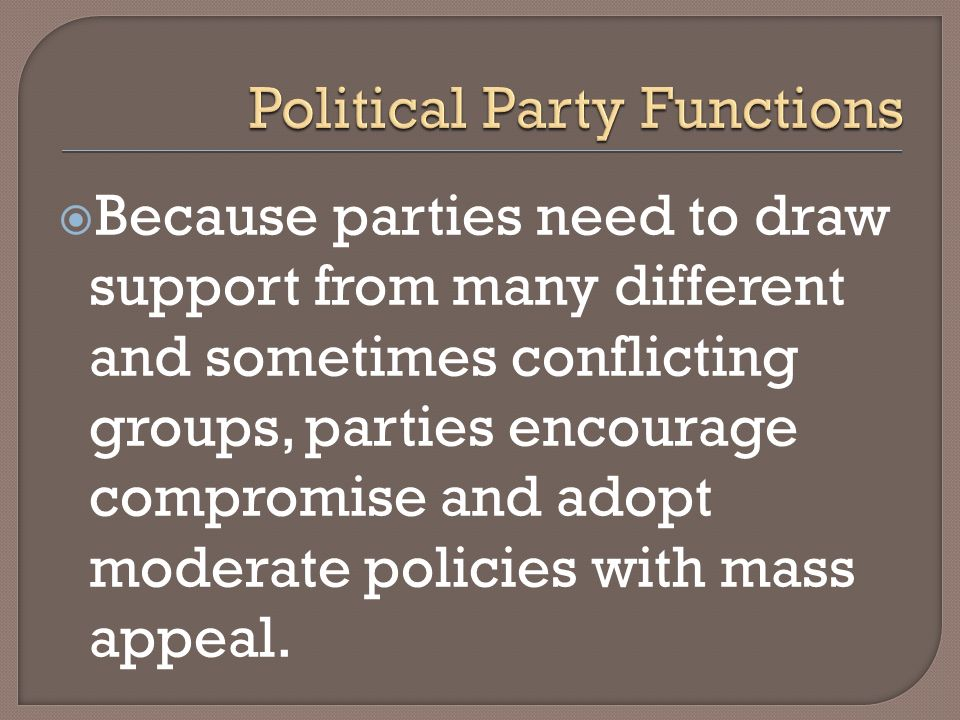 Political Party Functions