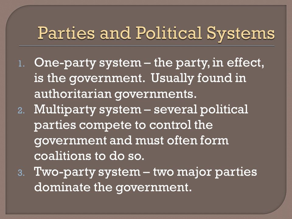 Parties and Political Systems