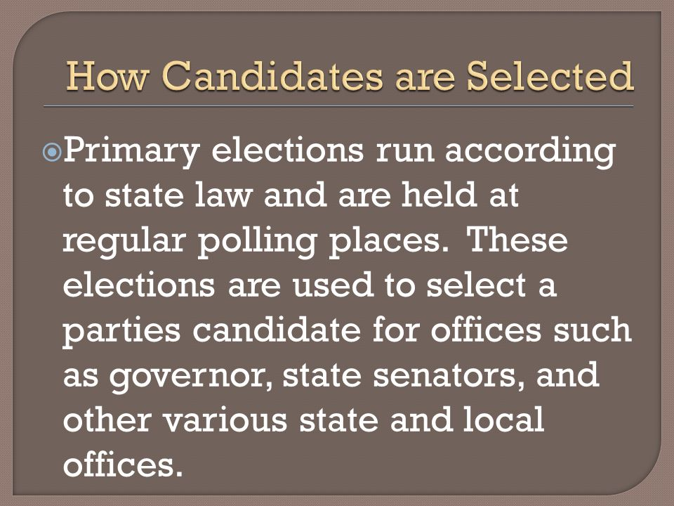 How Candidates are Selected