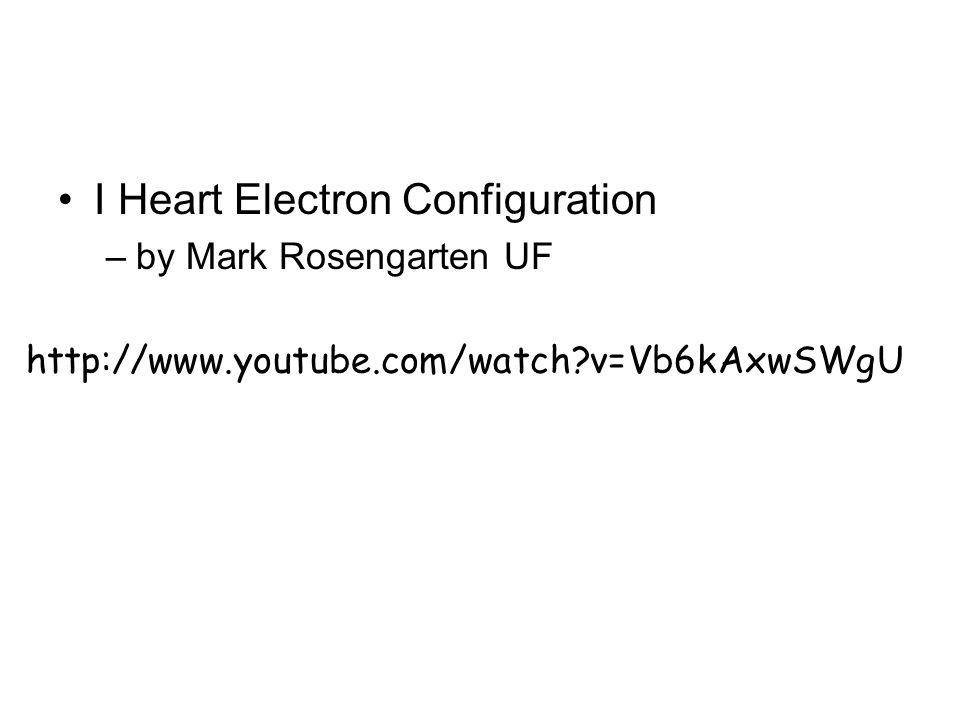 I Heart Electron Configuration
