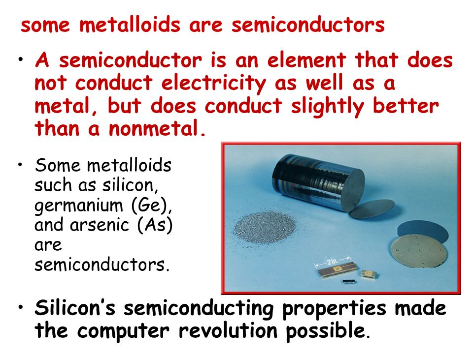 some metalloids are semiconductors