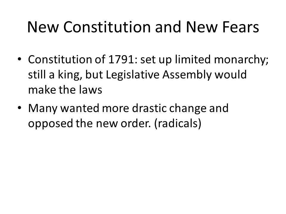 New Constitution and New Fears