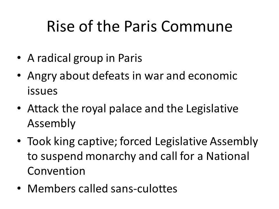 Rise of the Paris Commune