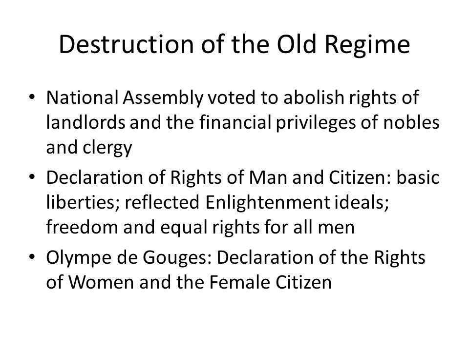 Destruction of the Old Regime