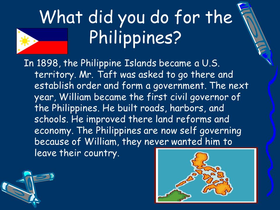 What did you do for the Philippines