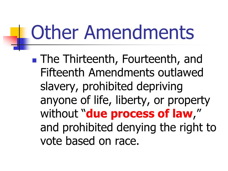 Other Amendments