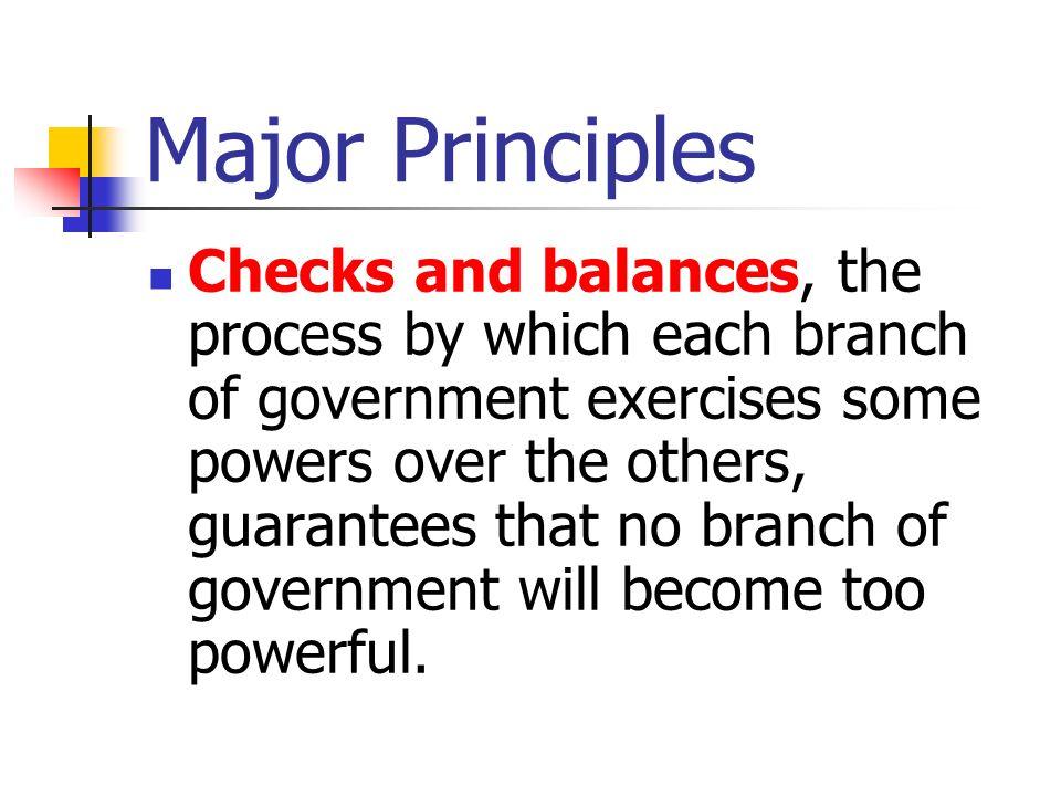 Major Principles