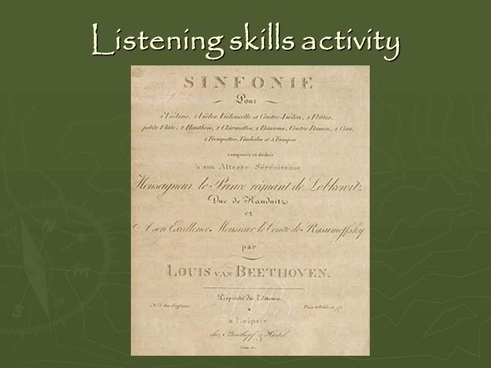 Listening skills activity