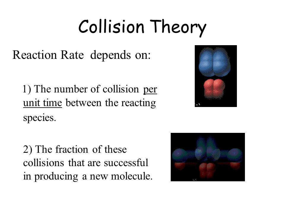 Collision Theory Reaction Rate depends on:
