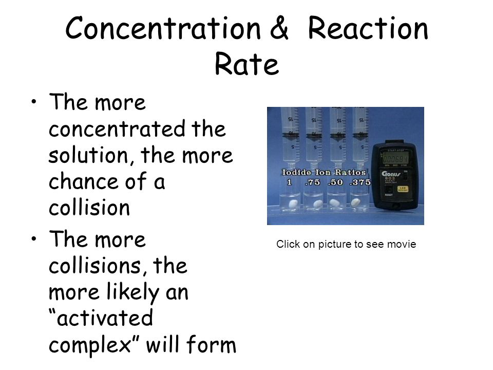 Concentration & Reaction Rate