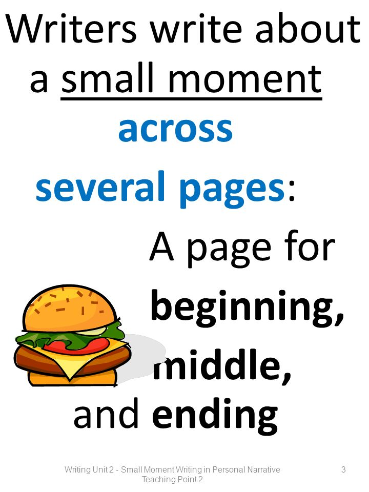 Writers write about a small moment across