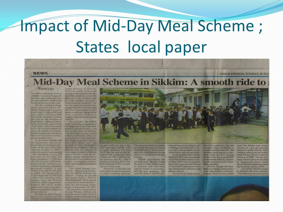 Lessons learned from India's midday meal scheme for schoolchildren