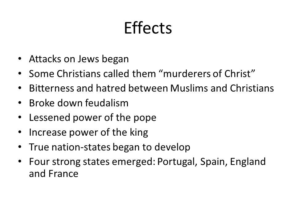 Effects Attacks on Jews began