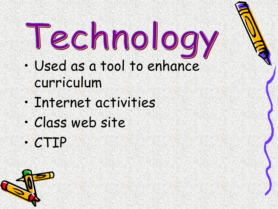 Technology Used as a tool to enhance curriculum Internet activities